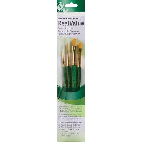 Brush Gold Taklon Round 1 4 Sha Real Value Set