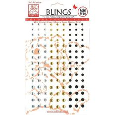 Blings Stick On Silver/Gold/Black Assorted