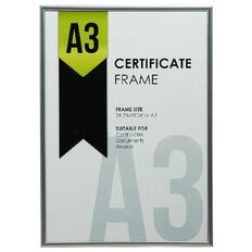 Certificate Frame A3 Silver