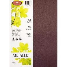 Metallic Paper 120gsm 10 Pack Ruby A4