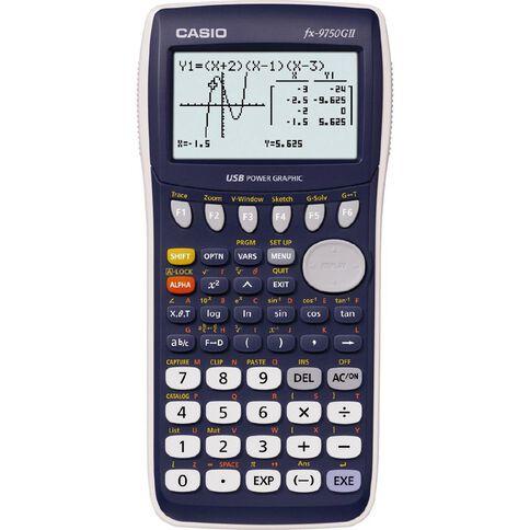 Casio Graphics Calculator F x 9750GII Black