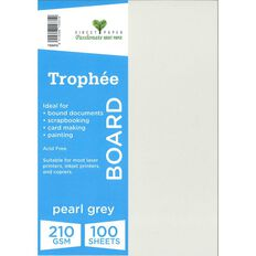 Trophee Board 210gsm 100 Pack Pearl Grey A4