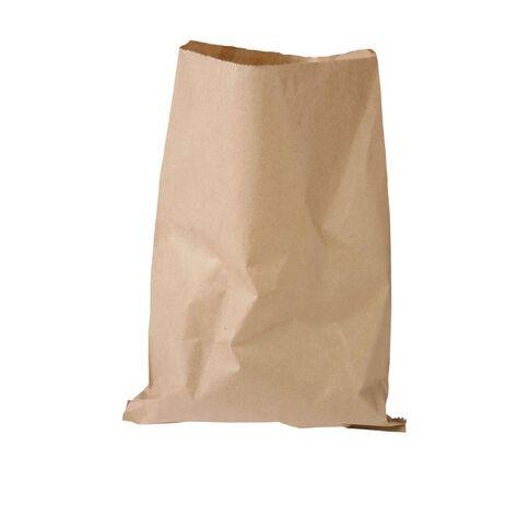 Unibag Paper Bags Flat Brown #8 255 x 350mm 500 Pack Brown