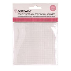 Craftwise Foam Tape 3D Squares Clear