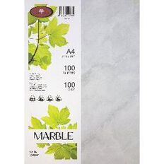 Marble Paper 100gsm 100 Pack White A4