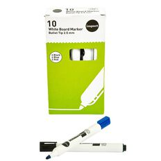 Impact Whiteboard Marker Bullet 10 Pack Assorted