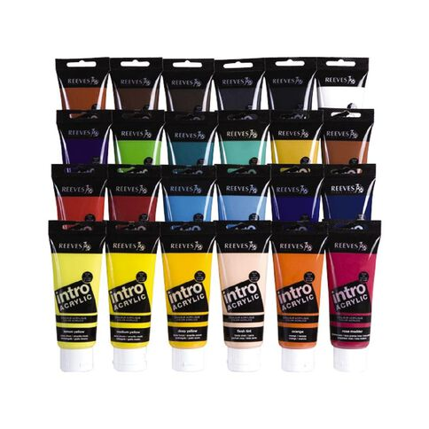 Reeves Acrylic Paint 100ml Burnt Sienna