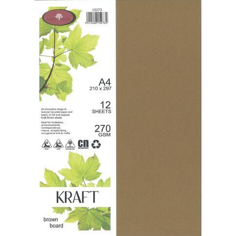Enviro Board 270gsm 12 Pack Kraft Brown A4