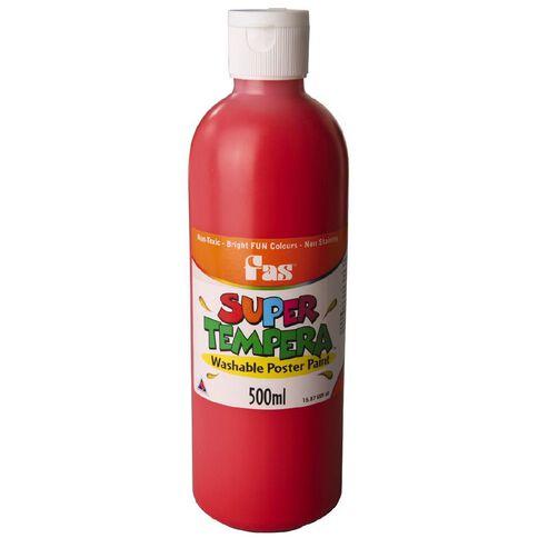 FAS Fas Paint Super Tempera 500ml Brilliant Red