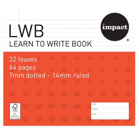 Impact Exercise Book Learn To Write 7mm Ruled 32 Leaf