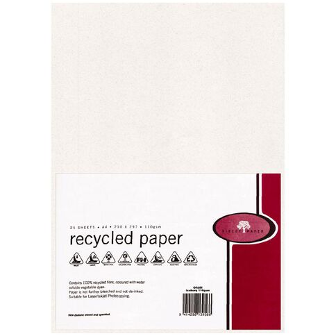 Recycled Paper 110gsm 25 Pack Iceberg A4