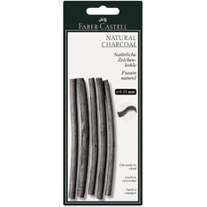 Twigs Natural Charcoal 7-12Mm Card Of 6