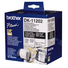 Brother Label Tape Dk11202 62mm x 100mm White
