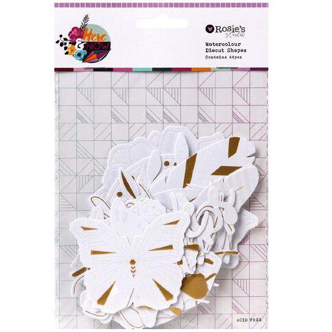 Rosie's Studio Here & Now Watercolour Paper Diecuts 44 Piece
