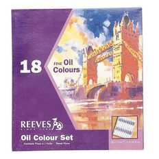Reeves Oil Paint Set 18 Tubes