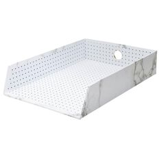 Uniti Marble A4 Document Tray White