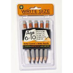 Write Size Pencils Set 6-10 Multi-Coloured