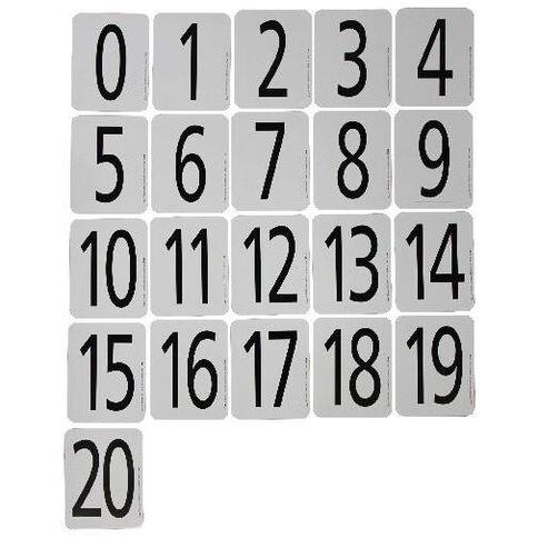 Tfc Number Cards 0-20 Black