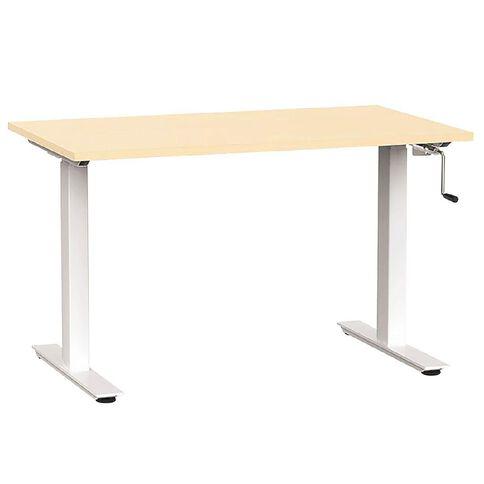 Agile Height Adjustable 1200 Desk Nordic Maple/White