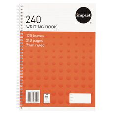 Impact Spiral Writing Book 240 Page A4