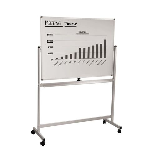 Home & Office Mobile Whiteboard 1200 x 900mm White
