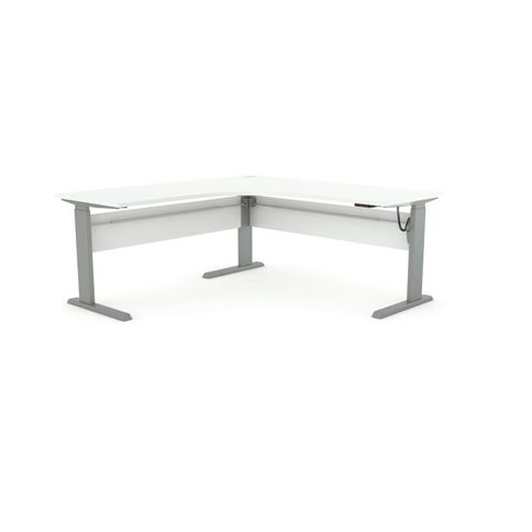 Cubit Height Adjustable Electric 1500 Workstation White/Silver