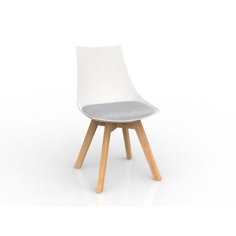Luna Oak Base Chair White Ash Grey