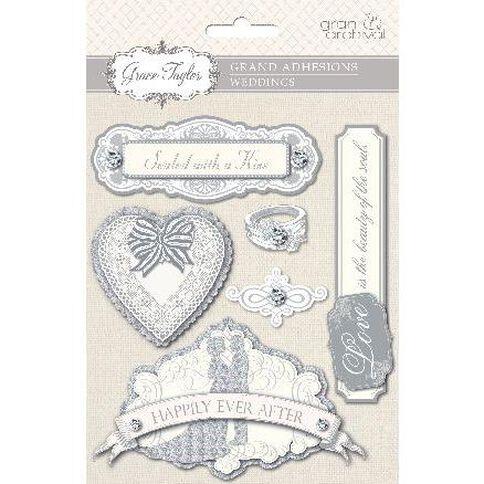 Grace Taylor Wedding Grand Adhesion with Rhinestones