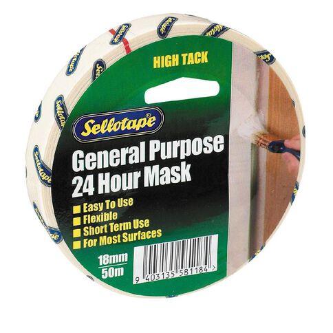 Sellotape Masking Tape 18mm x 50m White