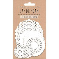 La De Dah Doily Diecut Shapes White