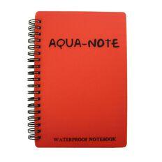 Aqua Notebook 180 x 120mm Waterproof 50 Leaf Red