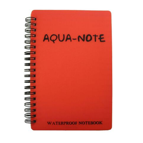 Aqua Notebook 180 x 120mm Waterproof 50 Leaf Red