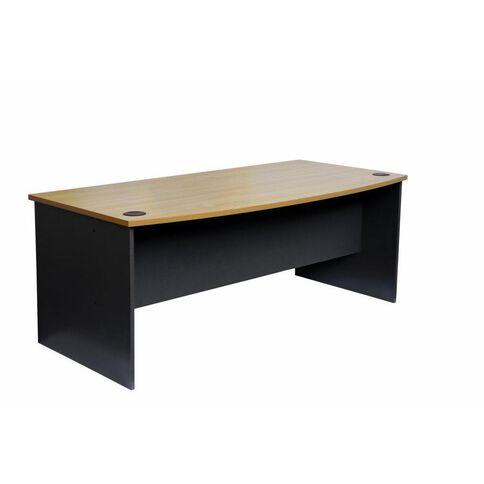Firstline 1800 Bow Front Desk Beech/Ironstone