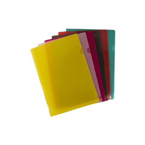 GBP Stationery L-Shaped Pockets 12 Pack Clear A4
