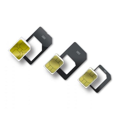 Sim Card Adapter Kit Black