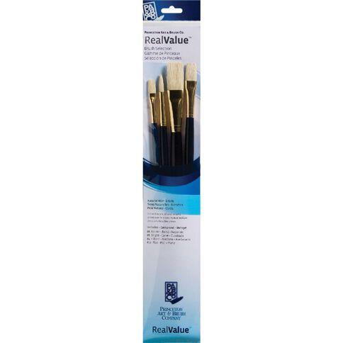 Brush Bristle Round 6 Flb 4 Brt Real Value Set