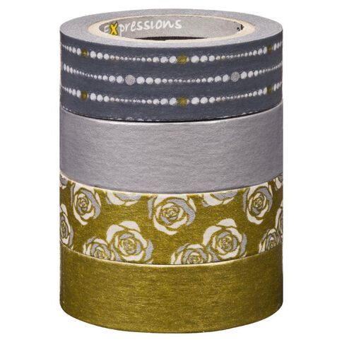 Scotch Washi Craft Tape Multipack Silver/Gold