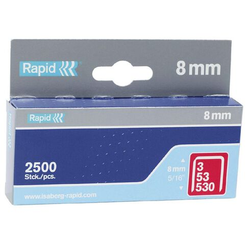 Rapid Staples 53/8 2500 Pack Silver