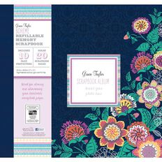 Grace Taylor Scrapbook Album 12X12 Boheme Multi-Coloured