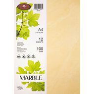 Marble Paper 100gsm 12 Pack Yellow A4