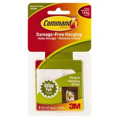 Command Picture Hanging Strips 17205 Small Value Pack White