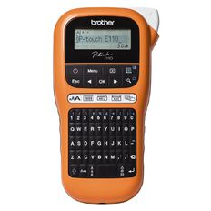 Brother Pte110Vp Industrial Label Maker Orange