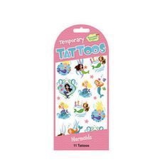 Peaceable Kingdom Stickers Temporary Tattoo Mermaids