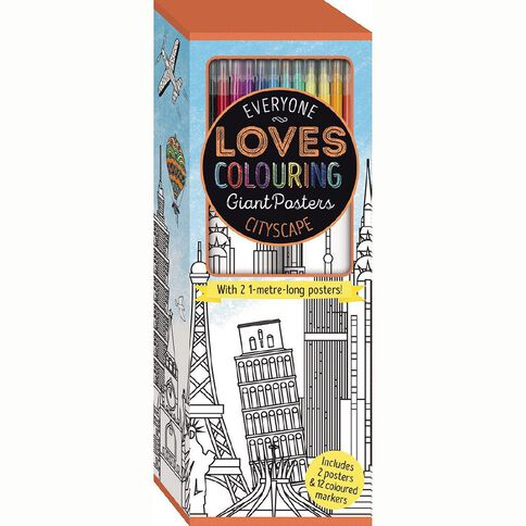Colouring Posters in Box Cityscape