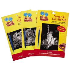 Little Hands Scrape It Foil Art Set Assorted