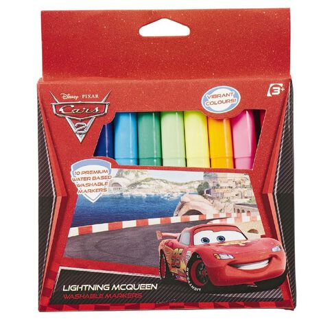 Cars 2 Markers 10 Pack