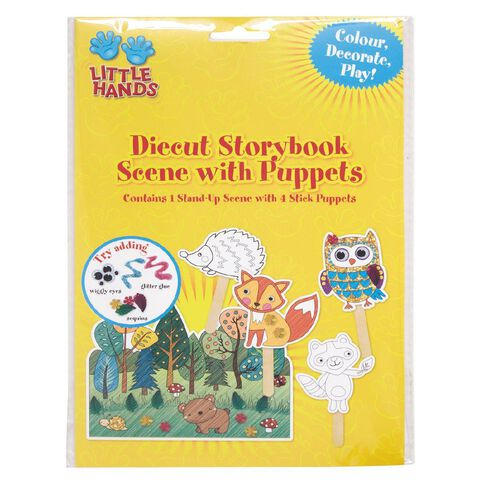 Little Hands Diecut Cardboard Puppets with Scenes Assorted