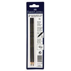 Faber-Castell Pencil Goldfaber 5B 2 Pack Black