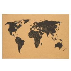 Banter World Map Cork Board
