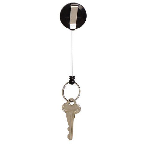 Rexel Mini Retractable Key Holder Black